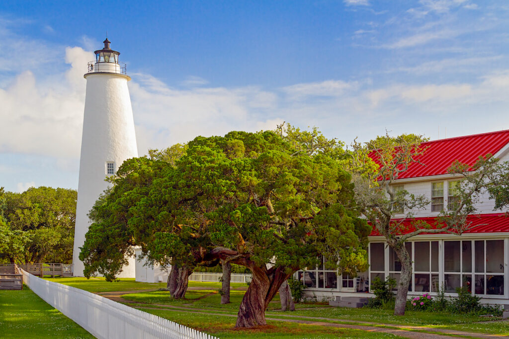 Ocracoke Lighthouse during the daytime