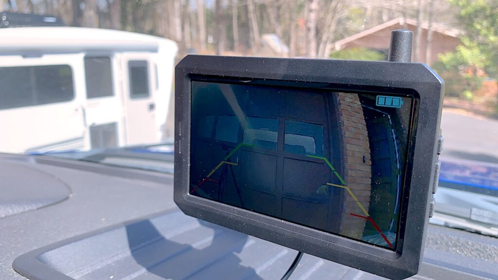 Backup Camera Monitor Inside Tow Vehicle