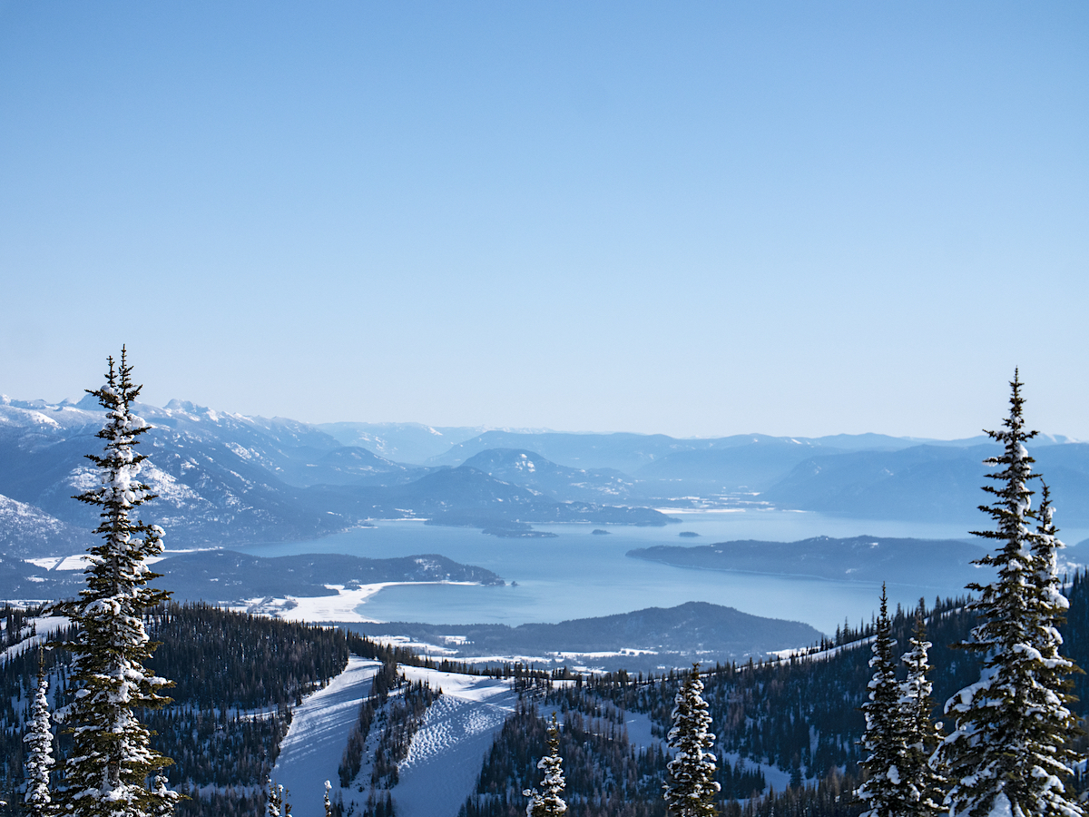 Lake Pend Orielle View From Schweitzer Mountain Idaho