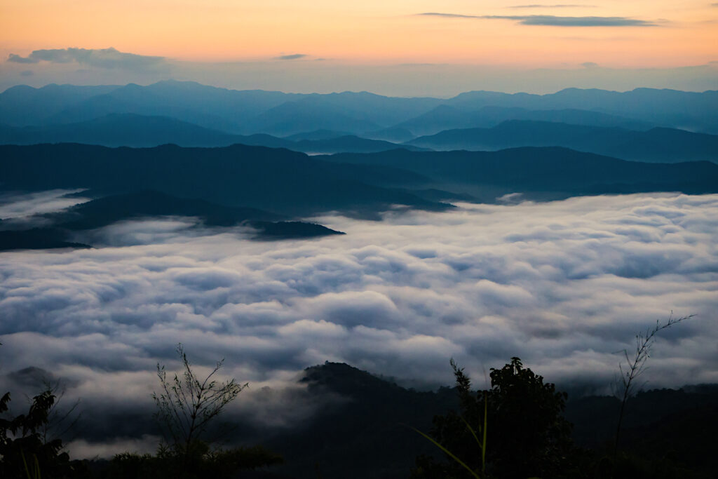 Nantahala National Forest Mountains with Clouds