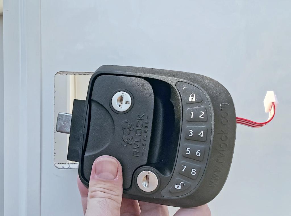 RV Lock Installation Step 1