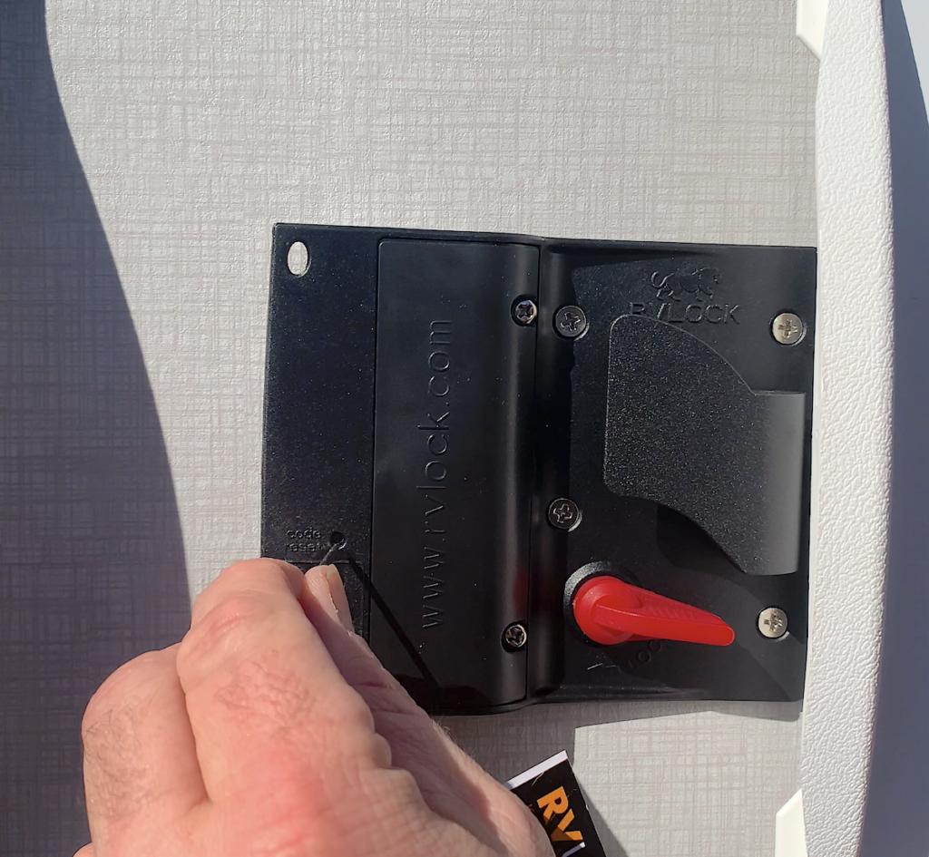 RV Lock Installation Step 8