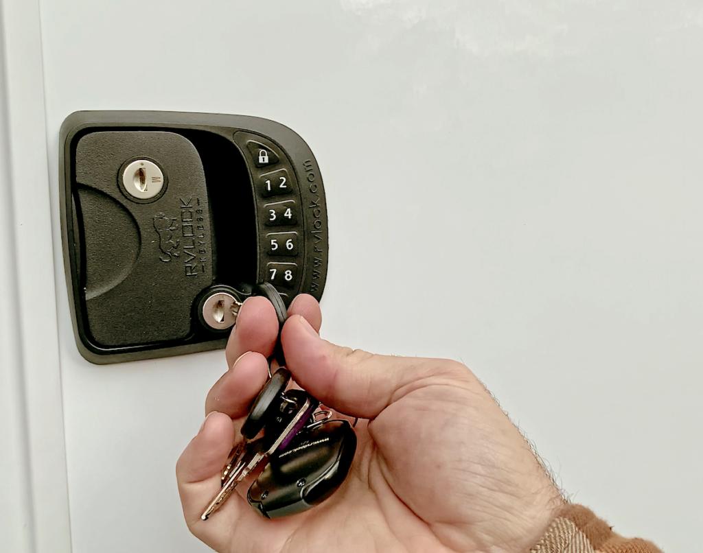 RV Lock Installation Step 9