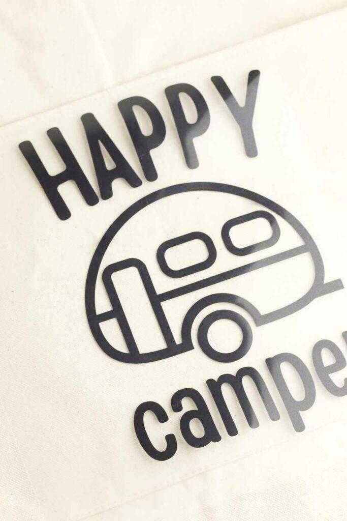 Happy Camper SVG Step 2