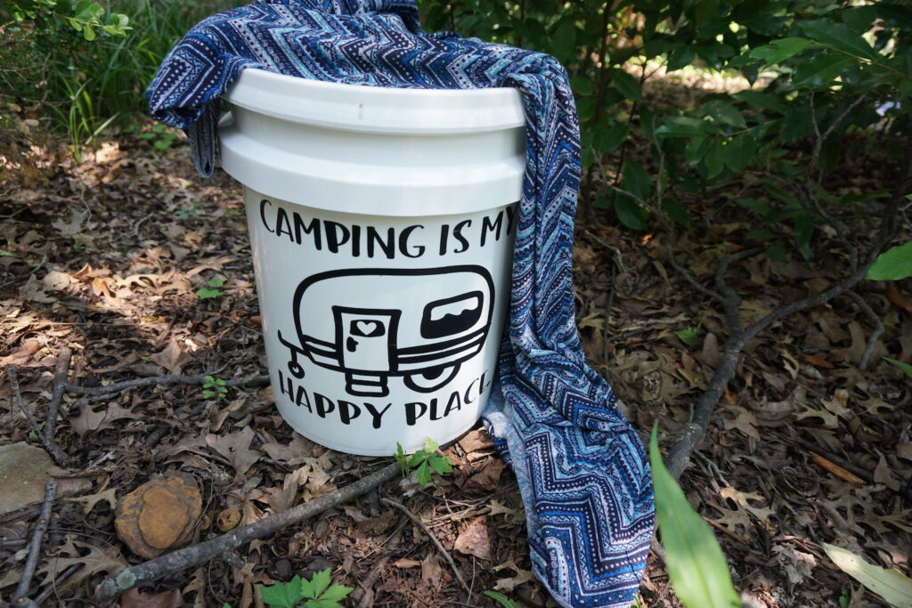 how to make a light up bucket for camping